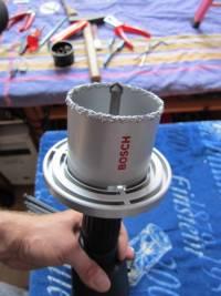 reparatur einer angebohrten stromleitung setzen einer unterputzdose eineseite. Black Bedroom Furniture Sets. Home Design Ideas